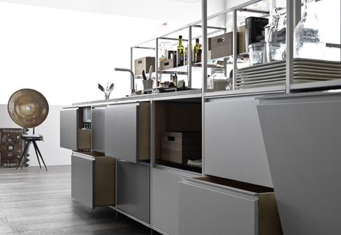 Meccanica mit metallfront von valcucine stylepark for Kuche selbst zusammenbauen