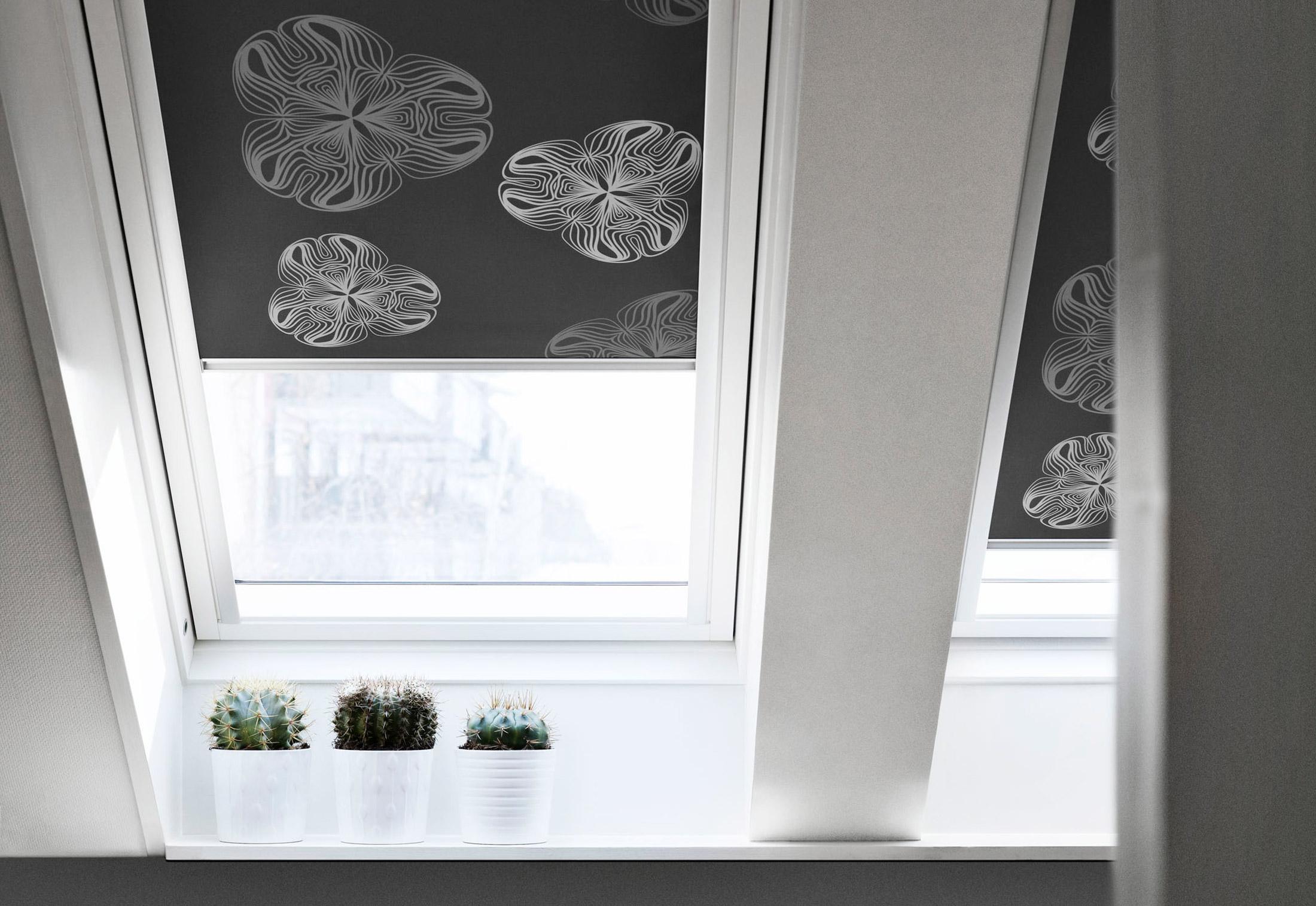 design rollos by velux stylepark. Black Bedroom Furniture Sets. Home Design Ideas