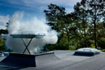 Flat roof light with automatic openable vent CSP  by  VELUX