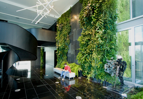 Indoor wall natura towers by vertical garden design for Vertical garden design