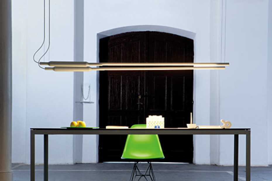 Slim pendant lamp horizontal
