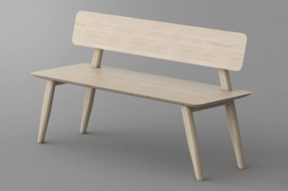 Aetas bench with backrest  by  vitamin design