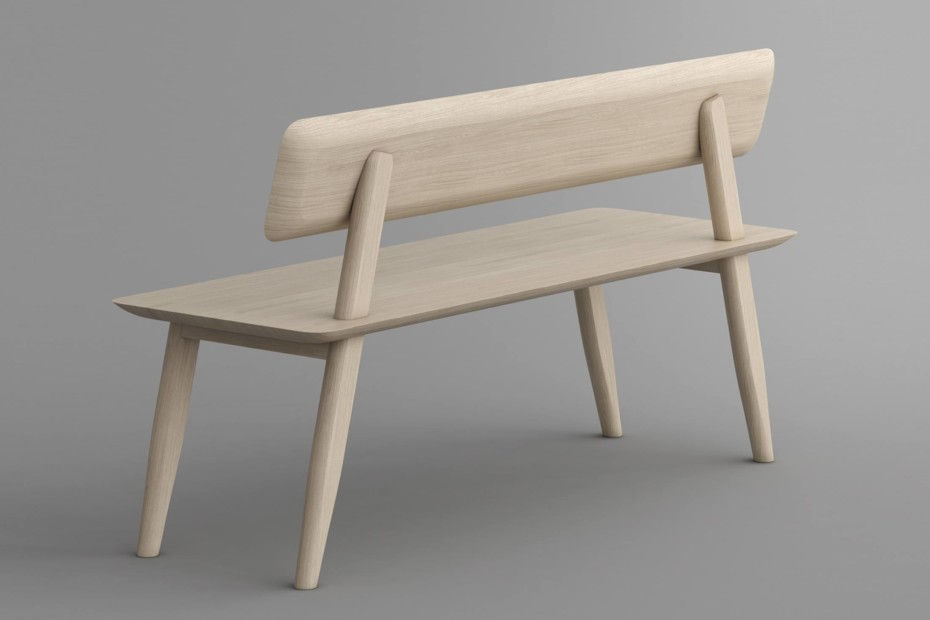 Aetas bench with backrest