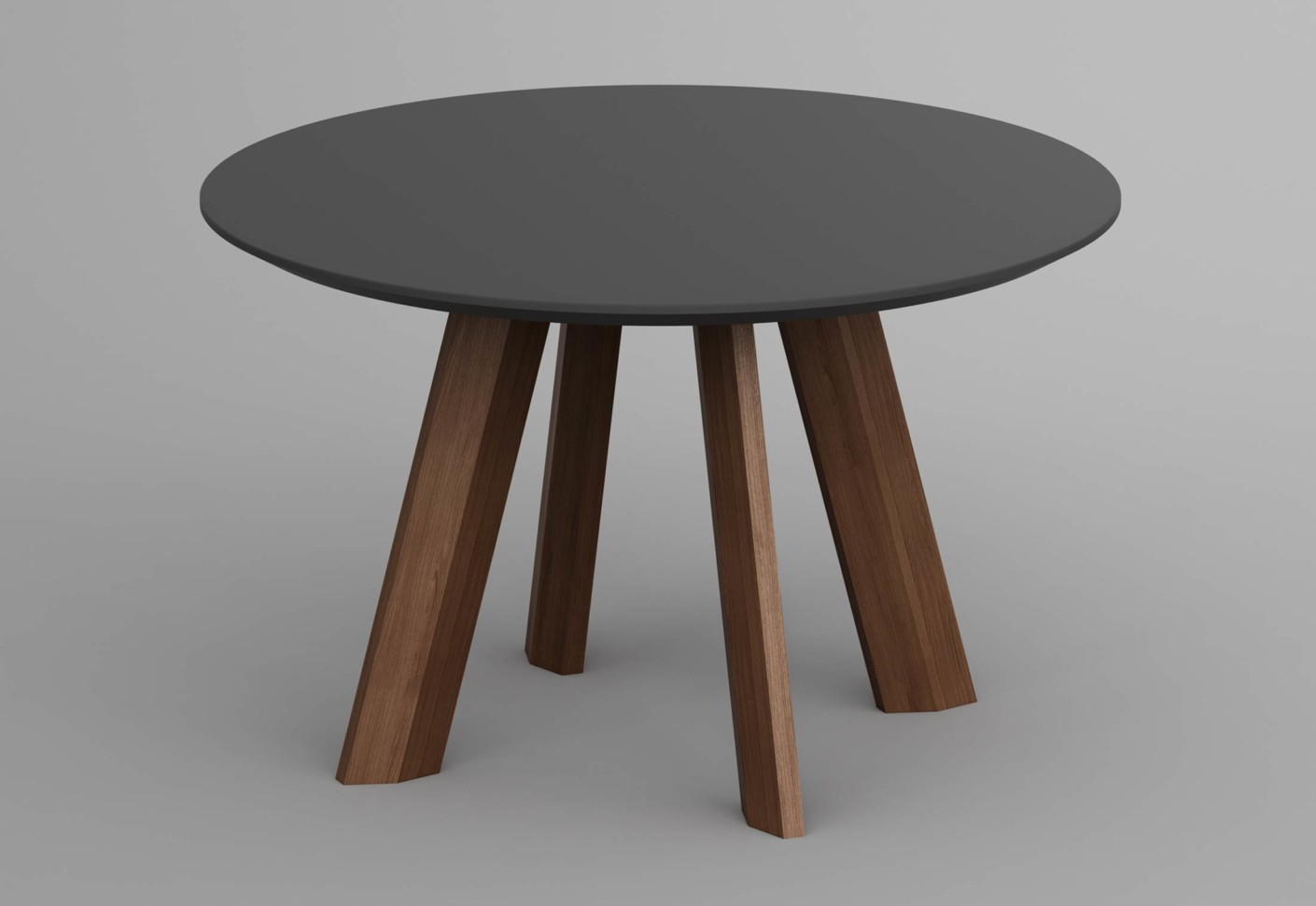 Rhombi tisch rund von vitamin design stylepark for Round centre table designs