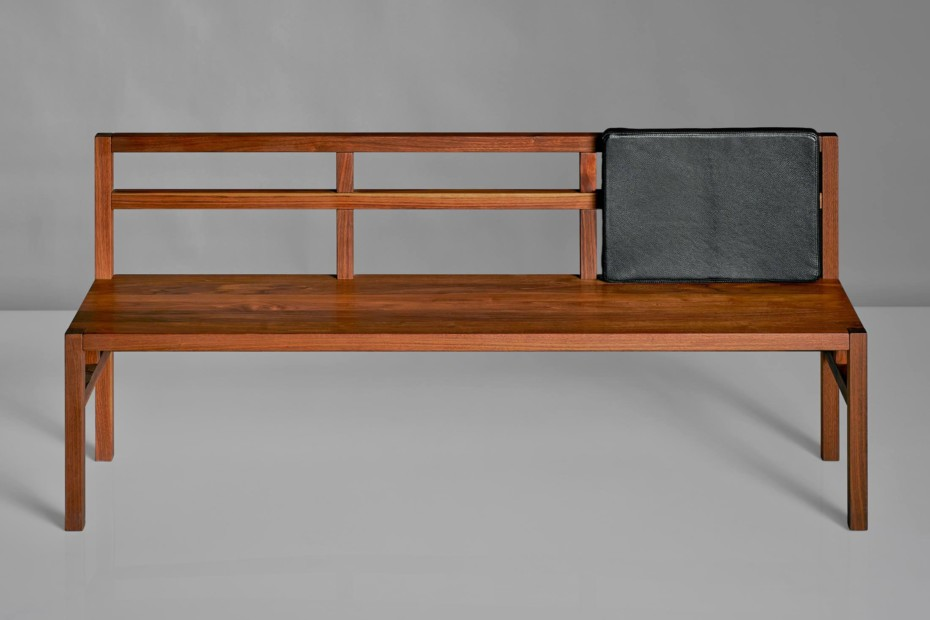 Sena bench with backrest