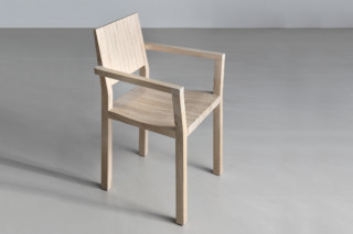 Tau chair with armrest  by  vitamin design