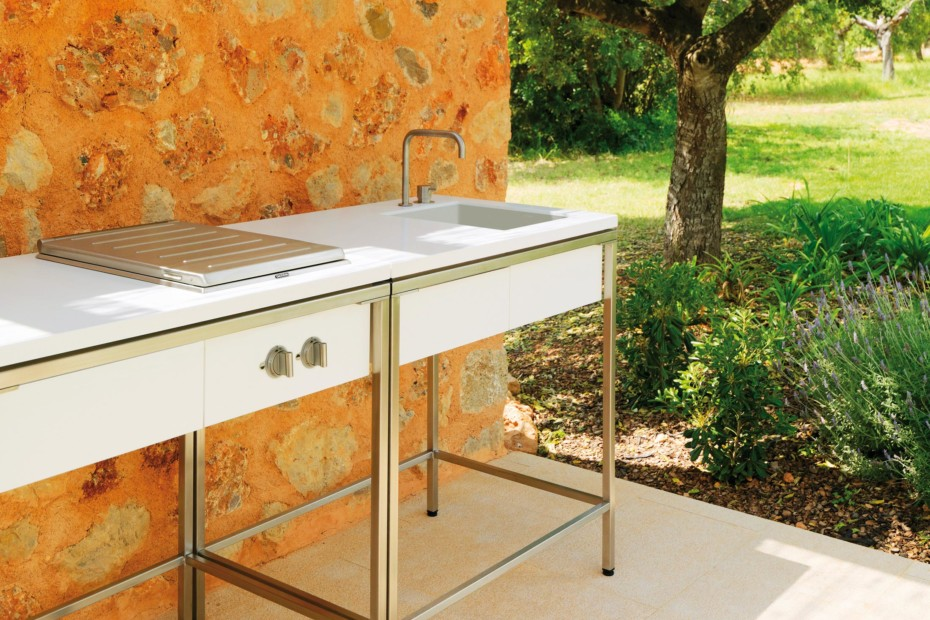 outdoor kitchen sink outdoor kitchen sink modul by viteo stylepark 1306