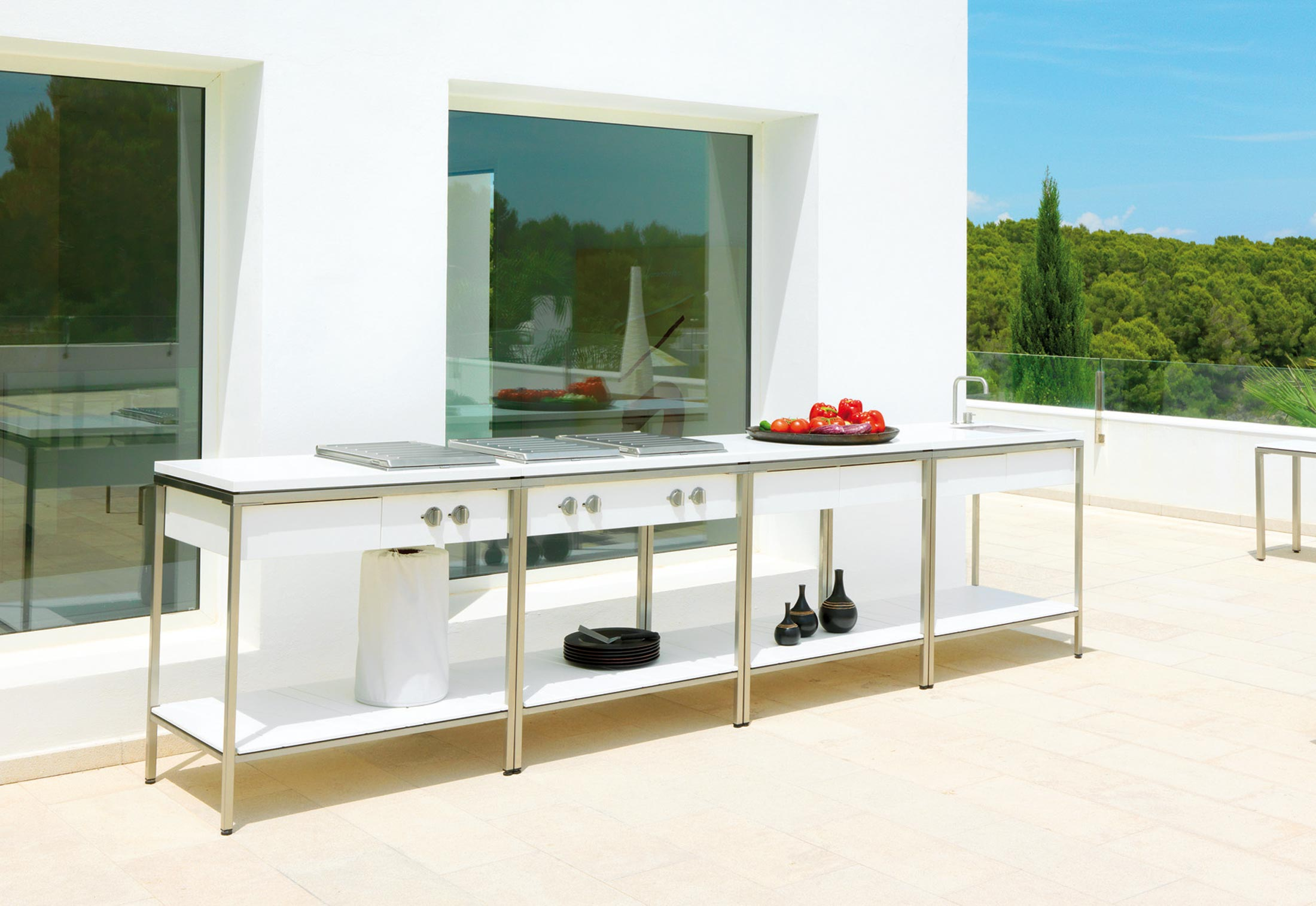 Outdoor kitchen sink modul by viteo stylepark - Cuisine ete exterieur ...