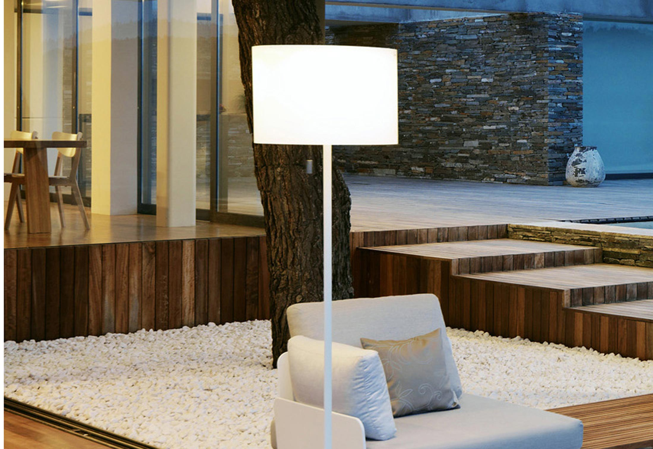 lighting outdoor resort hotel or lamp nxt solar bollard garden terrain post