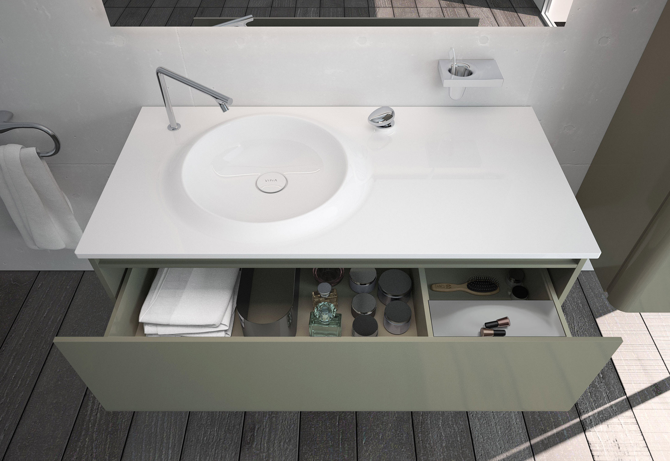 Istanbul washing basin table by VitrA Bathroom | STYLEPARK