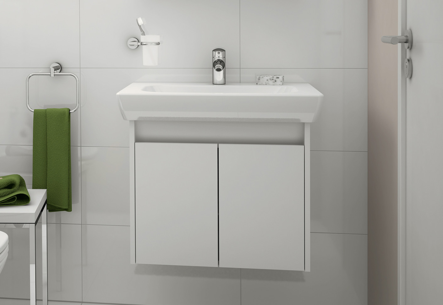 S20 Washbasin Vanity Unit By Vitra Bathroom Stylepark