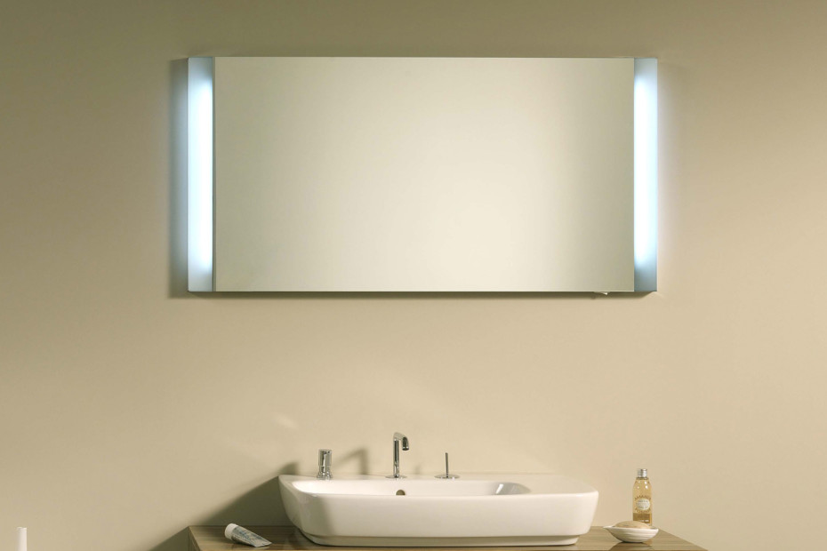 Shift wall mirror and mirror cabinet