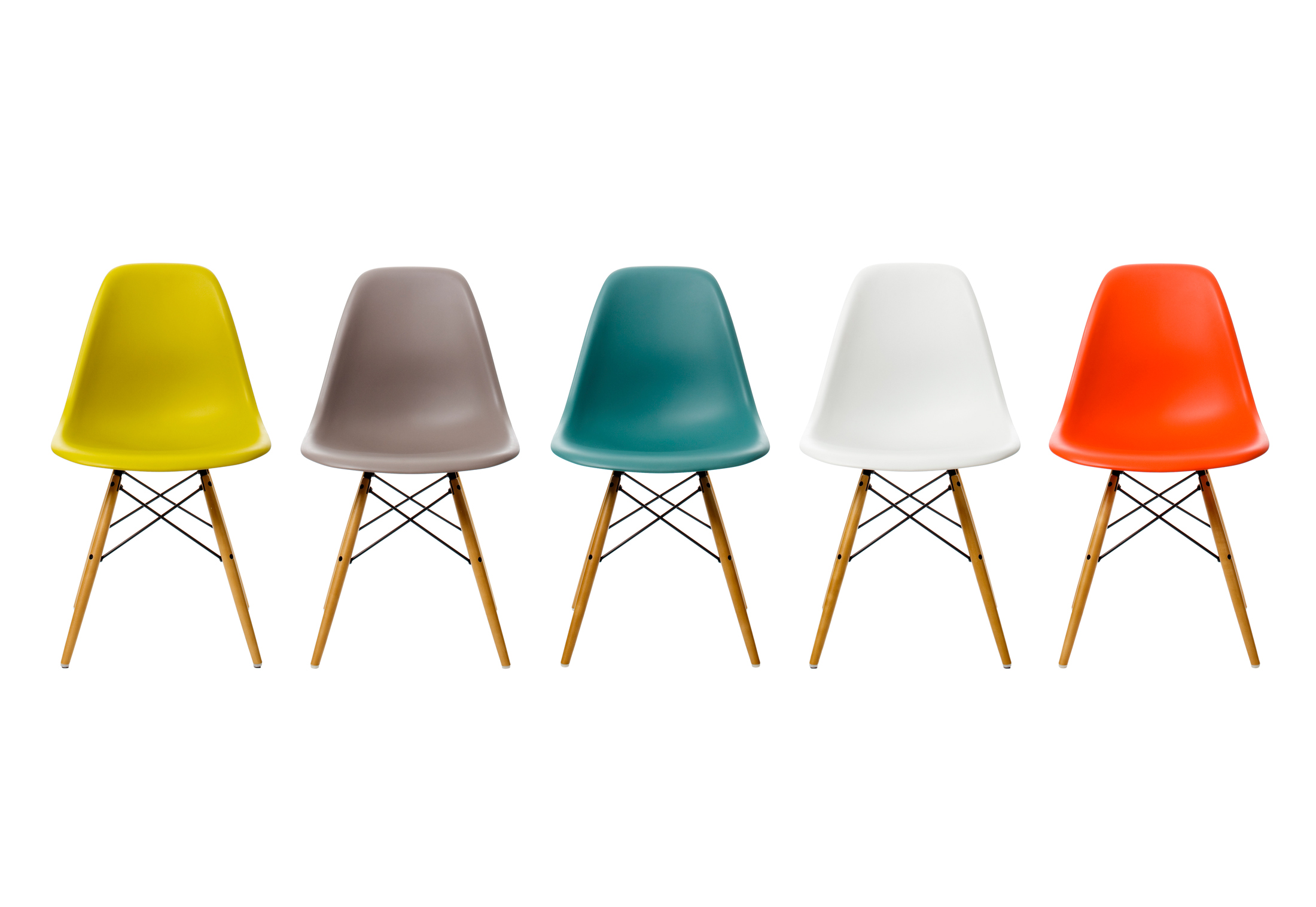 Eames plastic chairs all office -  Eames Plastic Side Chair Dsw
