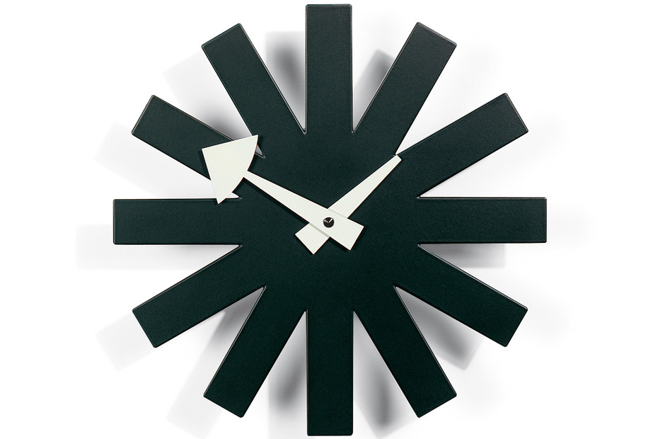 Asterisk Clock schwarz