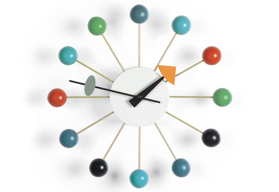 Ball Clock mehrfarbig