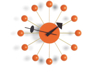 Ball Clock orange  by  Vitra