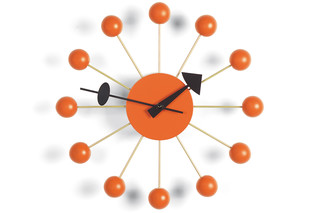 Ball Clock orange  von  Vitra