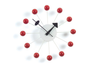 Block Clock red  by  Vitra