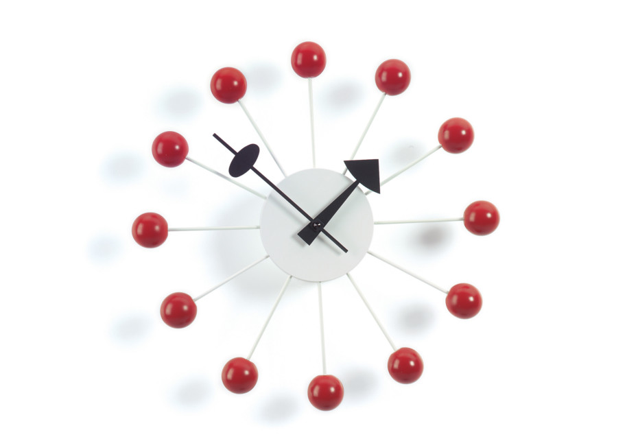 Block Clock red