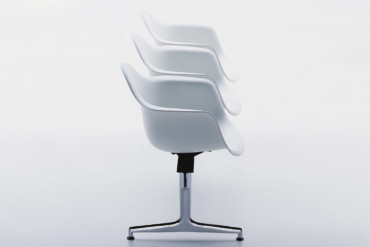 Eames Plastic Side Chair On Stretchers · Vitra