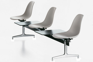 Eames Plastic Side Chair on Stretchers  by  Vitra