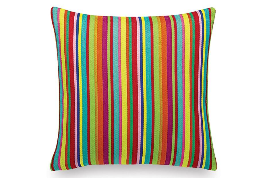 Pillow Maharam Millerstripe multicoloured bright