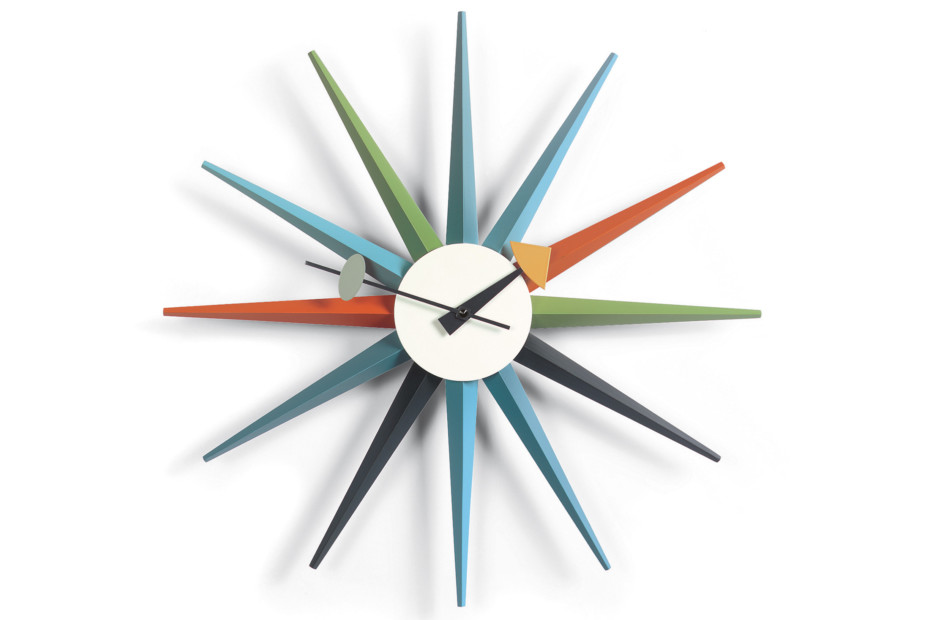 Sunburst Clock multicoloured