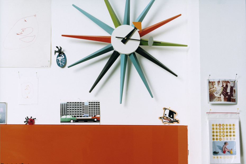 Sunburst Clock Multicoloured By Vitra Stylepark