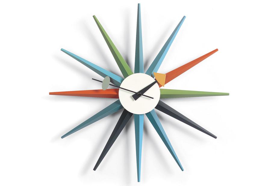 Sunburst Clock mehrfarbig