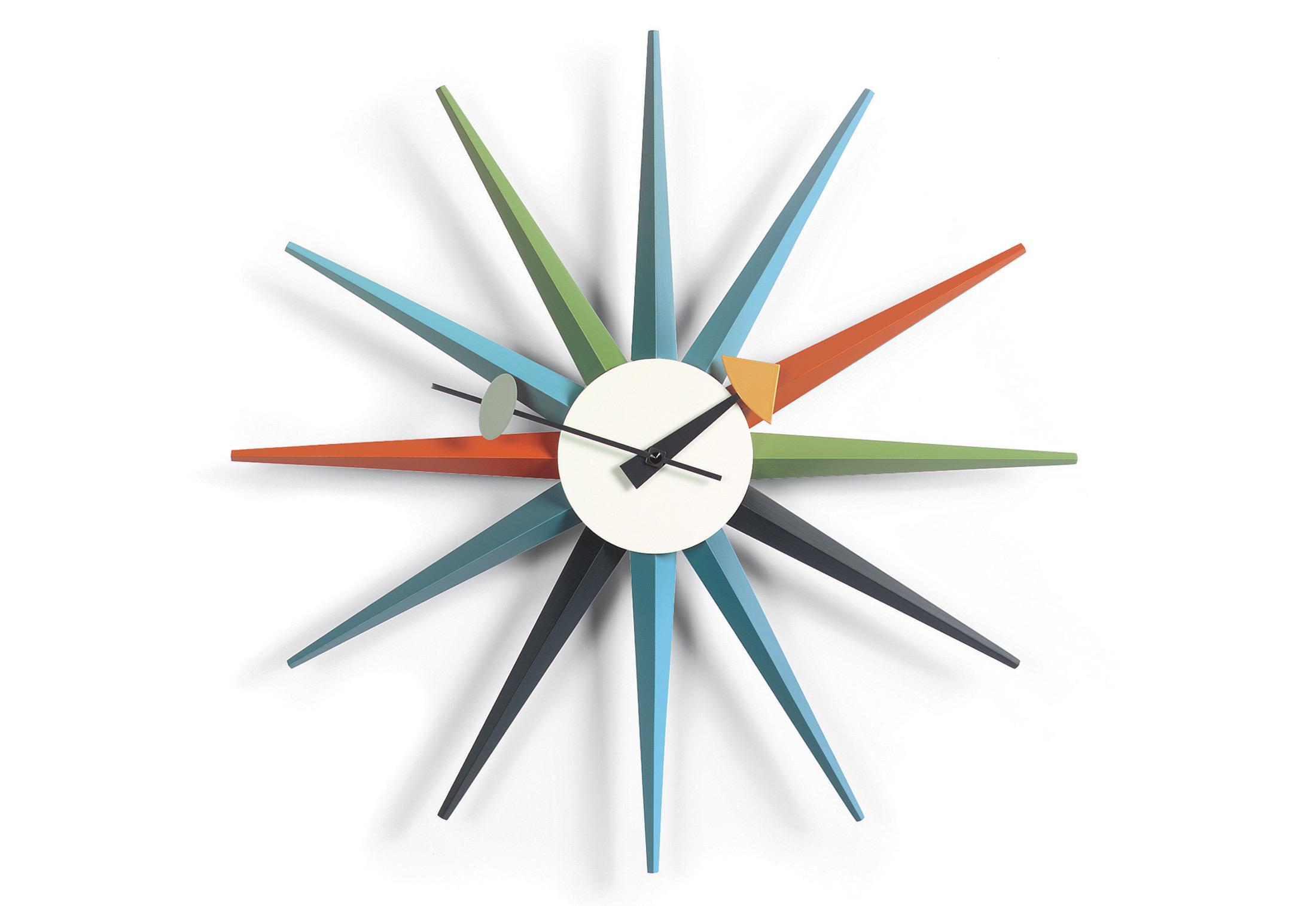 Sunburst Clock Multicoloured By Vitra Stylepark