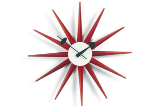 Sunburst Clock red  by  Vitra