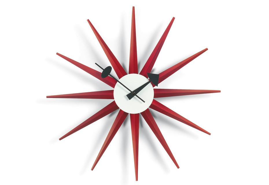 Sunburst Clock rot
