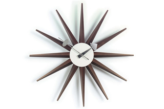 Sunburst Clock walnut  by  Vitra