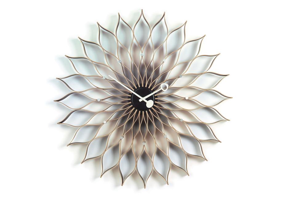 Sunflower Clock birch/black