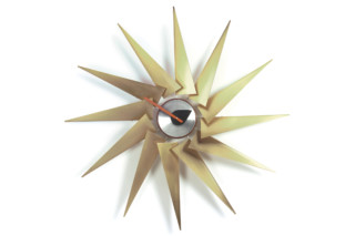 Turbine Clock brass/aluminium  by  Vitra