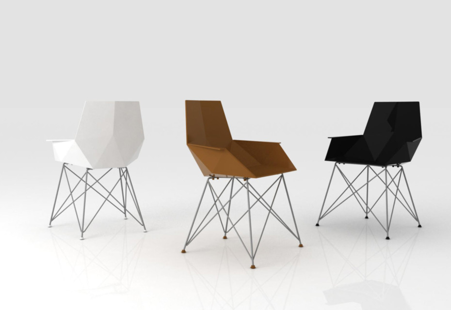 Faz chair with armrests