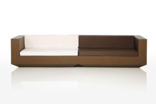 Vela sofa brown&white  von  VONDOM