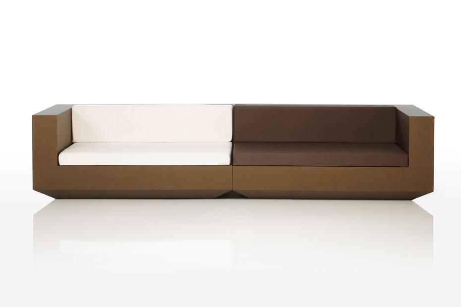 Vela sofa brown&white